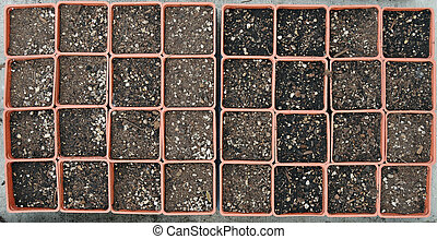 Empty Gardening Pots - A bunch of small empty gardening pots...