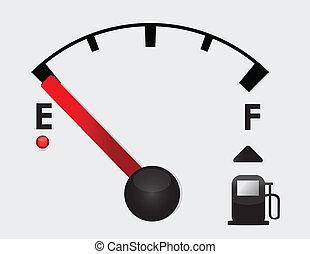 empty Gas Tank Illustration - detail car Gas Tank...