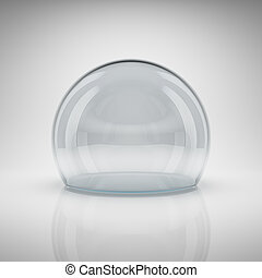 Empty glass ball for exhibition