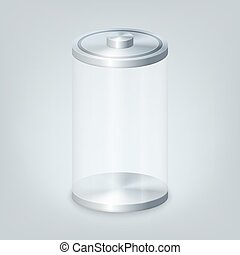 Empty glass battery. Vector illustration in eps10