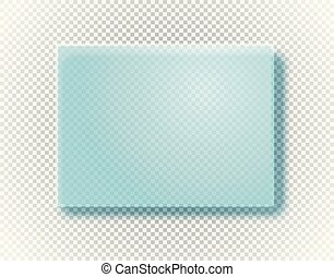 Empty glass board isolated on transparent background. ...