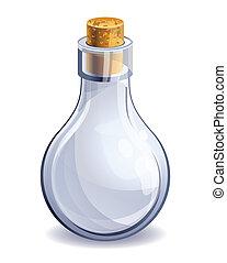 empty glass bottle  - vector illustration