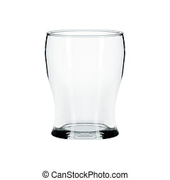 Empty glass for beer isolated on white