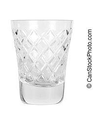 empty glass for vodka