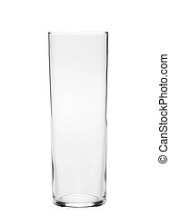 Empty glass for water isolated