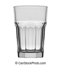 empty glass for water or long drink, isolated