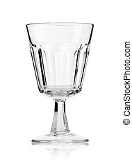Empty glass isolated on a white background. With clipping path