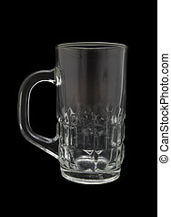 empty glass isolated on black background