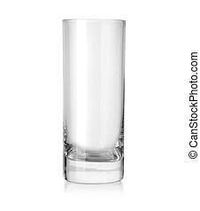empty glass isolated