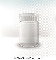 empty glass jar