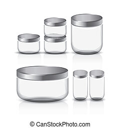 empty glass jar set