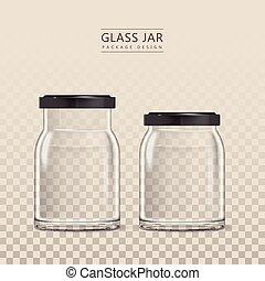 Empty glass jar template