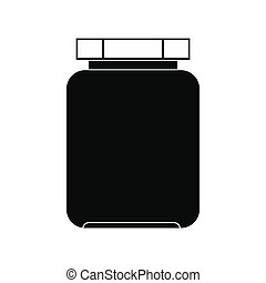 Empty glass jar with lid icon