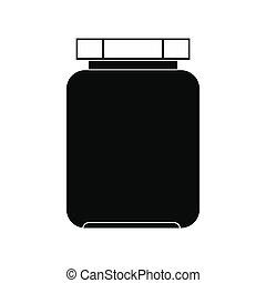 Empty glass jar with lid icon