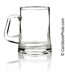 empty glass mug for beer