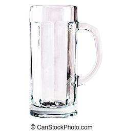 empty glass mug isolated on white