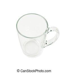 Empty glass mug isolated