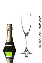 empty glass of champagne