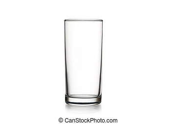 empty glass on a white background isolated