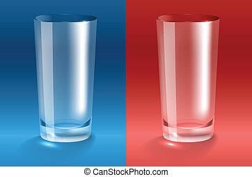 Empty glass. Transparent gradient mesh
