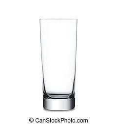 Empty glass, vector illustration