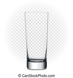 Empty glass, vector illustration with transparency