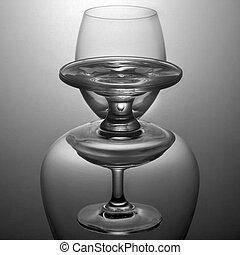 empty glass vertical