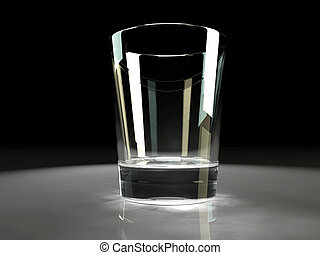 empty glass with refractive caustic effects