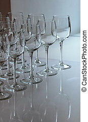 Empty glasses event catering
