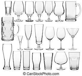 empty glassware collection