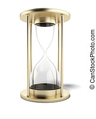 Empty gold hourglass