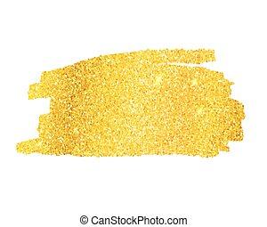 Golden glitter banner - Empty Golden glitter banner. Vector...
