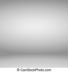 Empty gray studio room background. Vector illustration