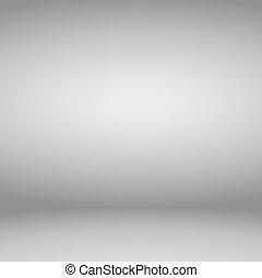 Empty gray studio room background. Vector illustration