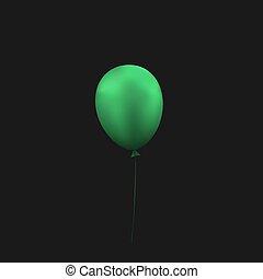 Empty green balloon