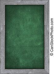 empty green chalkboard