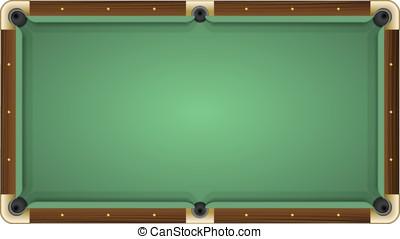 Empty green pool table