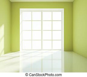 empty green room