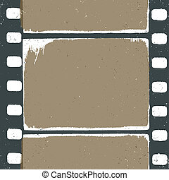 Empty grunge film strip design, may use as a background or ...