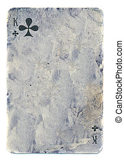 grunge playing card paper background with signs isolated