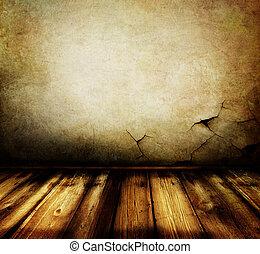 Empty Grunge Room Interior