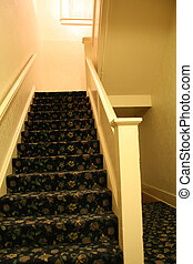 Empty Hall and Staircase - An empty hall and staircase that ...