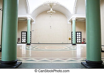 empty hall - interior of an exhibition hall