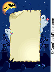 Empty halloween card