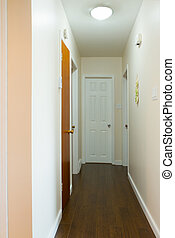 Empty hallway interior - New house empty hallway interior