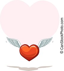 Empty heart template