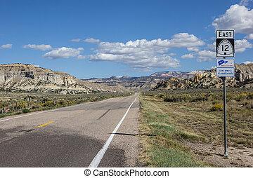 Empty highway 12 in Utah