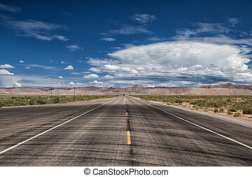 Empty highway in Utah