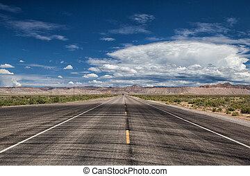 Empty highway in Utah