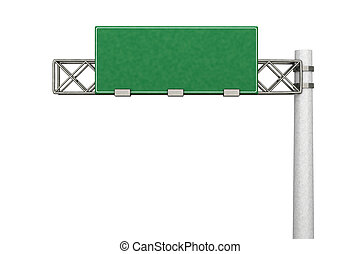 Empty Highway Sign - 3D rendered Illustration. A empty...
